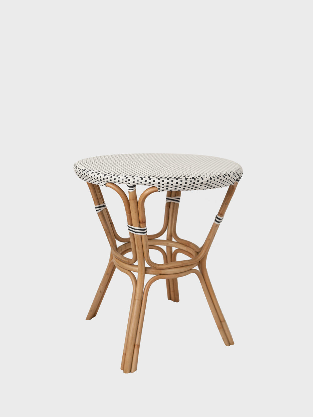 Bistro Table - White&Navy